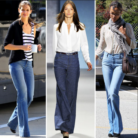 Denim flares are just about ok