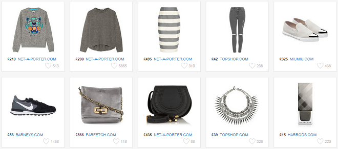 50 Shades of grey Fashion Forecast items