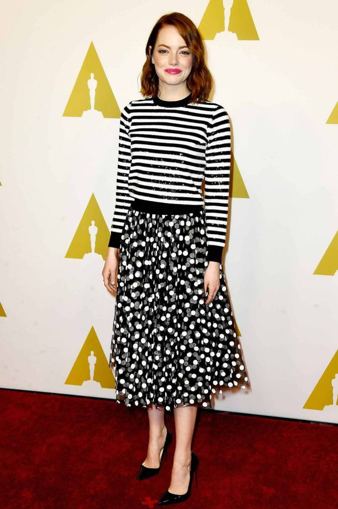 Dots and Stripes at the Oscars Luncheon