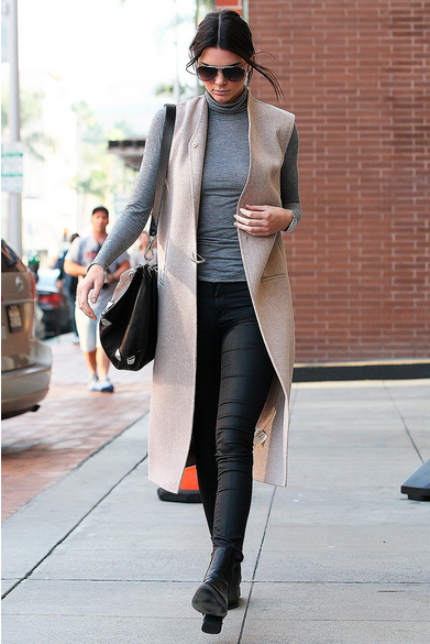 the most beautiful coat in the world on Kendall Jenner